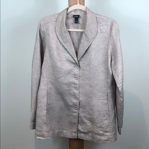 Eileen Fisher Blazer Jacket  Front Metallic S